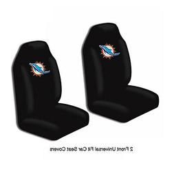 NFL Miami Dolphins Car Truck 2 Front Seat Covers Set - Offic
