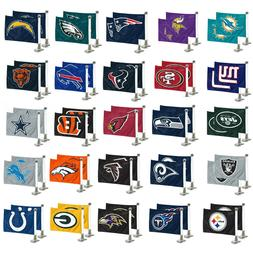 "Football Car Hood / Trunk Ambassador Flags Set Of Two 4"" x 6"
