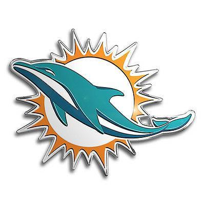 Miami Dolphins Color Auto Emblem - Die Cut