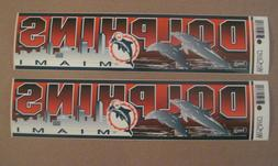 Lot Of  Vintage Miami Dolphins 1990's Wincraft Bumper Sticke