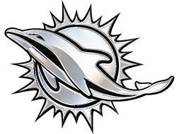 Miami Dolphins Chrome Auto Emblem