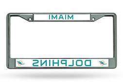 Miami Dolphins Chrome Frame