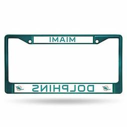 Miami Dolphins Chrome License Plate Frame Tag Cover Car/Auto