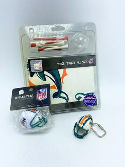 Miami Dolphins Collectible Bundle Golf Set Helmet Keychain A