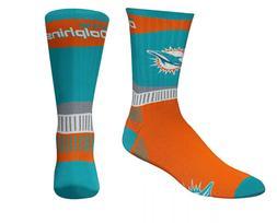 Miami Dolphins Football Orange & Blue Sport Fan Deuce Crew S
