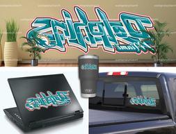 Miami Dolphins Graffiti Vinyl Vehicle Car Laptop Wall Sticke