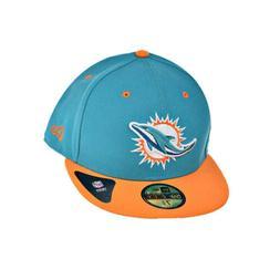 New Era Miami Dolphins NFL 59Fifty Men's Fitted Hat Cap Aqua