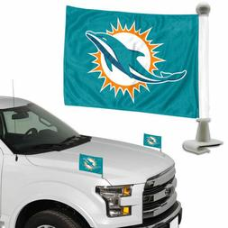 Miami Dolphins NFL Ambassador Car Flag Set