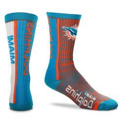 Miami Dolphins NFL Bar Stripe Vertical Socks Large Men's For