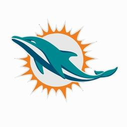 Miami Dolphins NFL Football Color Logo Sports Decal Sticker