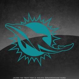 """Miami Dolphins NFL Vinyl Decal Sticker - 4"""" and Larger - 30+"""