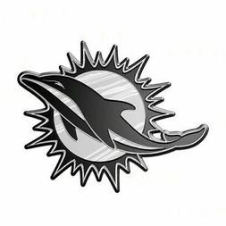 Miami Dolphins Plastic Chrome 3D Emblem Automotive Car Truck