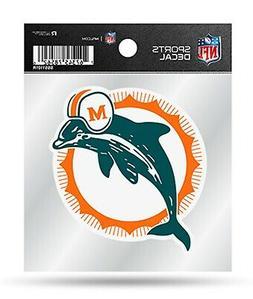 Miami Dolphins Retro Logo Premium 4x4 Decal with Clear Backi