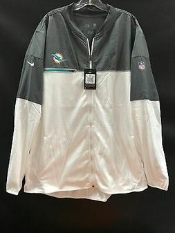 MIAMI DOLPHINS TEAM ISSUED WHITE ZIP NIKE JACKET NEW W/TAGS