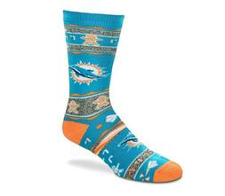 Miami Dolphins Ugly Holiday Gingerbread Sweater Crew Socks