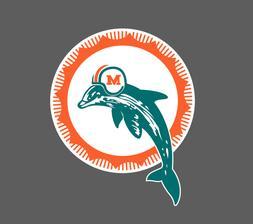 Miami Dolphins Vintage Logo Car Truck Laptop Die-Cut Vinyl D