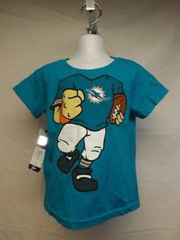 New-Minor Flaw-Miami Dolphins Toddler 3T Blue NFL Shirt