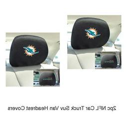New NFL Miami Dolphins Car & Truck Embroidered Headrest Cove