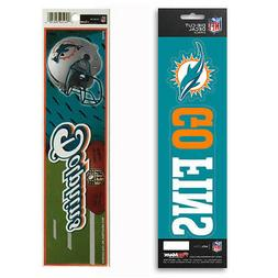 New NFL Miami Dolphins Die-Cut Vinyl Slogan Decal and Bumper