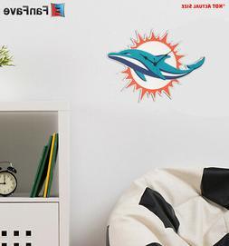 New NFL Miami Dolphins Home Decor EVA Foam 3D Wall Clock 13.