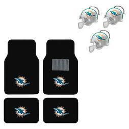 NFL Miami Dolphins Car Truck Carpet Floor Mats & Hanging Air
