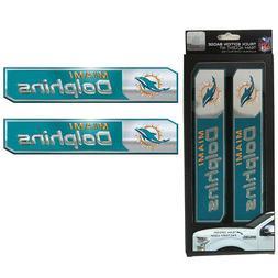 NFL Miami Dolphins Car Truck Edition Badge Color Aluminum Em