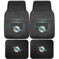 NFL Miami Dolphins Front Rear Car Truck Rubber Vinyl All Wea