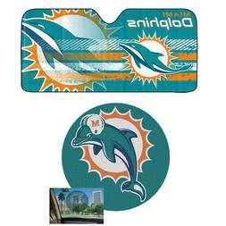 NFL Miami Dolphins Car Truck Windshield Folding SunShade & P