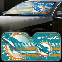 NFL Miami Dolphins Car Windshield Front Window Sun Shade Aut
