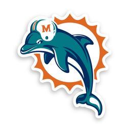 Sticker Dolphins Decal Miami Vinyl Logo Football Pick Helmet